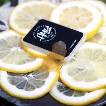 Marijuana Concentrates on lemon slices