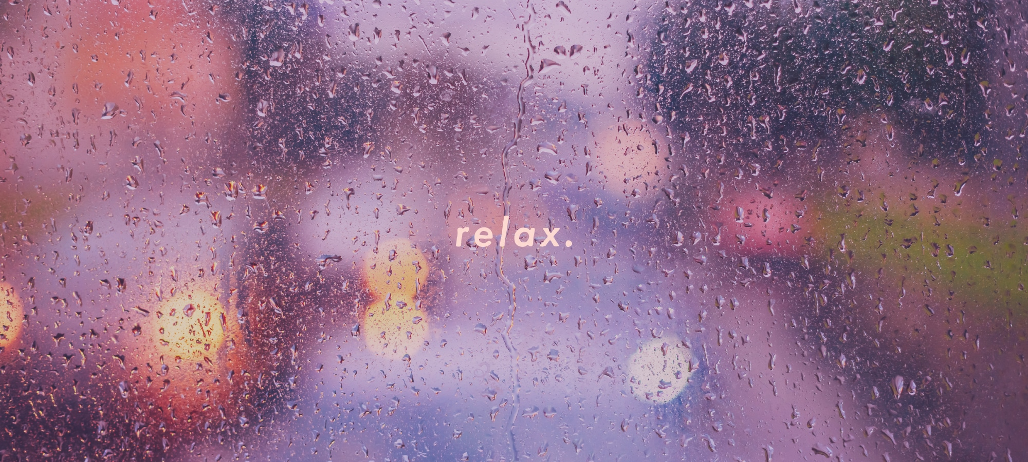 Relaxing rain on window image