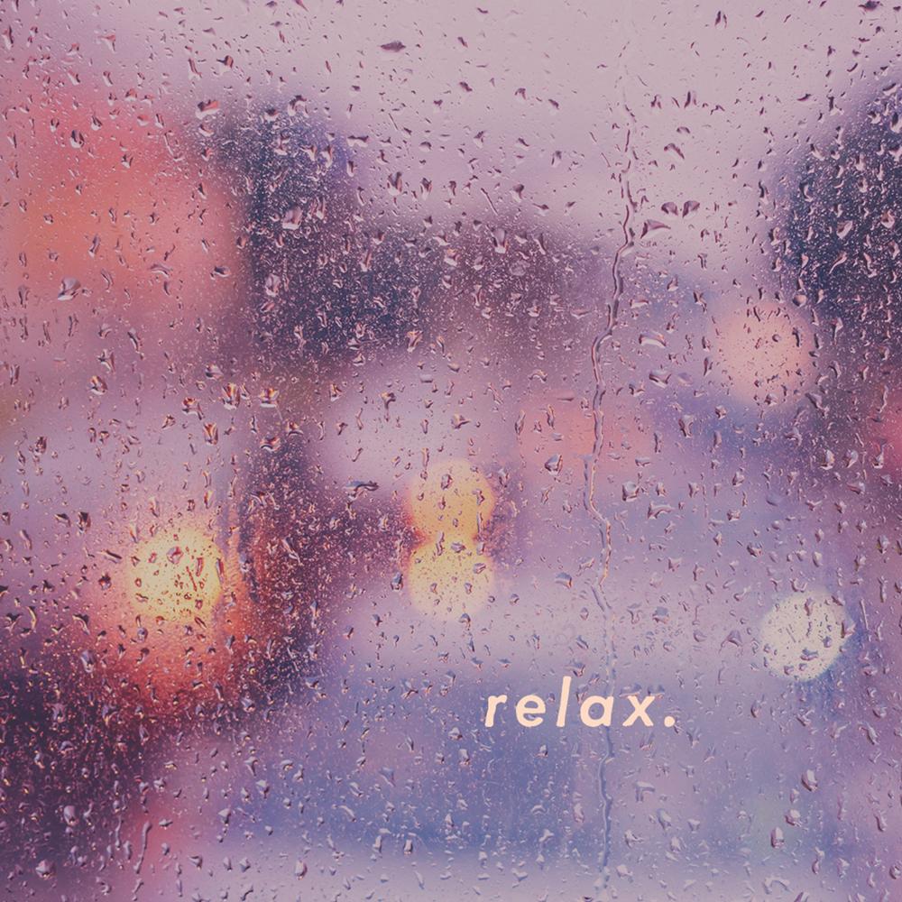 relaxing image of rain on window